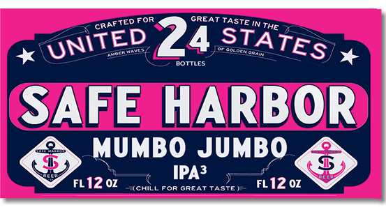 Case Pack design for Safe Harbor Mumbo Jumbo Triple IPA
